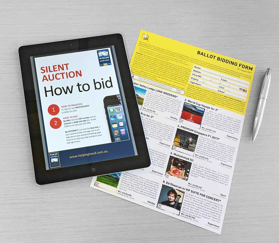 opinion ballot bidding or electronic silent auction