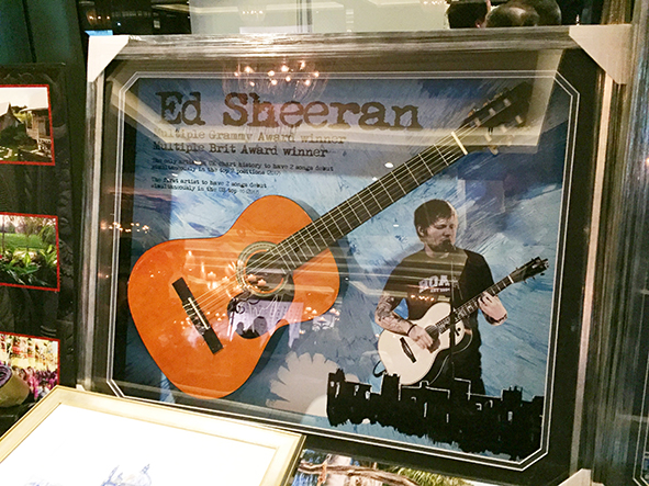 Auction Item Ideas for Fundraisers: Ed Sheeran Guitar