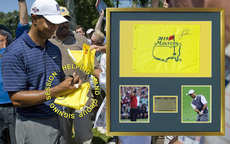 988f7551 Sports Memorabilia for Fundraising Auctions: Masters Autographed Golf Flags